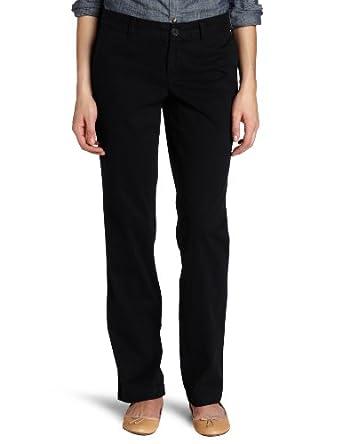 Dockers Women's Soft Khaki Pant, Black, 4 Medium