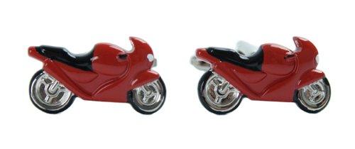 Harvey Makin Red Motorbike Cufflinks Cuff Links New