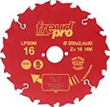 PKE Pro.Spec LP20M TCT Saw Blade for Long Grain Cutting 216 x 30mm x 24T [Pack of 1] [+F6]