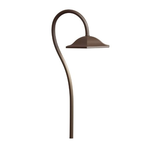 Kichler Lighting 15807Azt Shepherd'S Crook Led 12-Volt Path And Spread Landscape Light, Textured Architectural Bronze Finish