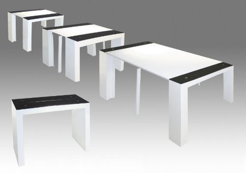 Table console laque blanc pas cher - Table a rallonge console ...