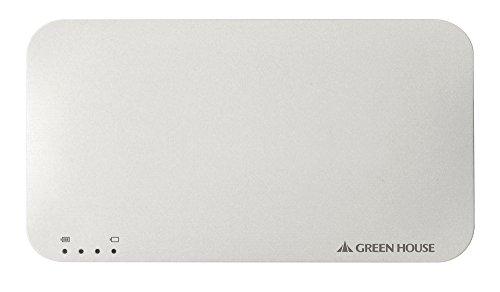 GREEN HOUSE ソーラー充電器 Wパネル ホワイト GH-SCA2900-WH