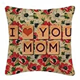 StyBuzz Cushion Cover - I Love You Mom Print