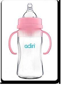 Adiri Nxgen Transitional Nurser Baby Bottle - Pink 9Oz