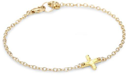 gorjana Gold Cross Over Charm Bracelet