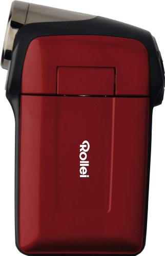 Rollei Movieline P 30 Camcorder (5 Megapixel, 6, 1 cm (2,4 Zoll) Farb-LTPS-TFT Dispaly, High Definition 720p) Inkl. AV-/USB Kabel und 2 AA Batterien rot