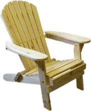 Folding Adirondack Bear Chair Pine(BC300P)