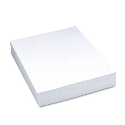 """Composition Paper, 3/8"""" Ruling, 16 lbs., 8-1/2 x 11, White"