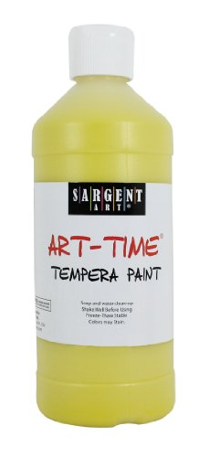 Sargent Art 22-6402 16-Ounce Art Time Tempera, Yellow - 1