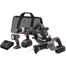 Porter-Cable PC418C-2 18-Volt NiCd Cordless 4-Piece Combo Kit