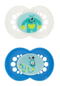 Mam Bpa Free Monsters 2 Pacifiers 6+Months Boy Colors front-998672