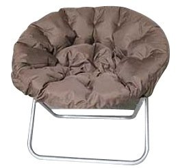 Comfort Padded Moon Chair - Chocolate
