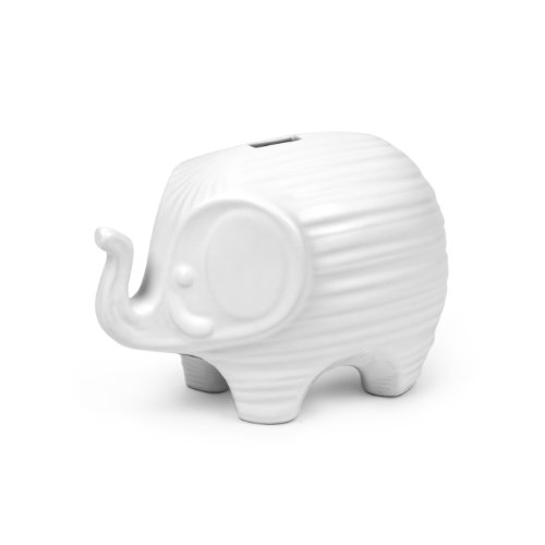 Jonathan Adler Elephant Bank Bookend, White