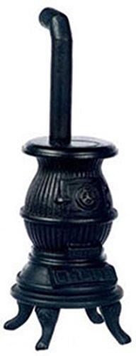 Dollhouse Miniature Black Pot Belly Stove front-304545