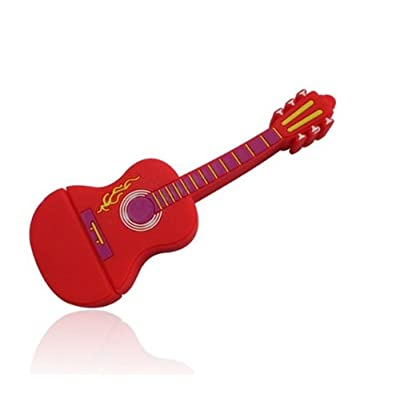 Microware 16GB Red Electric Guitar ShMicroware Designer Fancy Pendrive