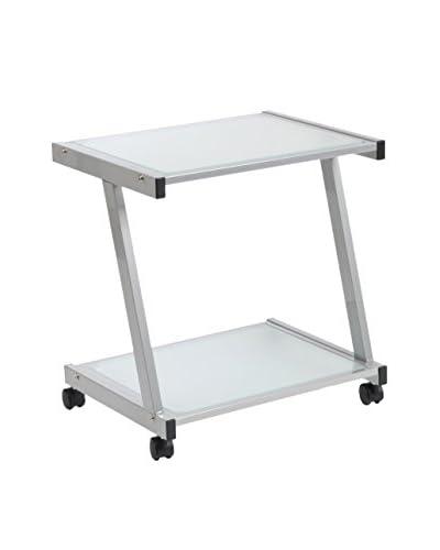 Euro Style L Printer Cart, Aluminum