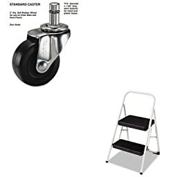 KITCSC11135CLGG1MAS30701 - Value Kit - Master Caster Standard Casters (MAS30701) and Cosco 2-Step Folding Steel Step Stool (CSC11135CLGG1)