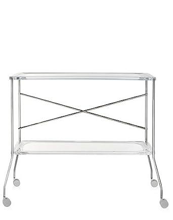 Kartell Flip Servierwagen, Plastik, dunkel weiß, 42 x 72 x 80 cm