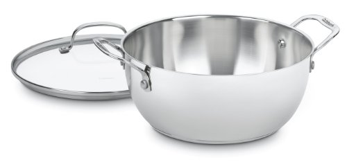 Cuisinart 755-26GD Chef's Classic Stainless 5-1/2-Quart Multi-Purpose Pot with Glass Cover (Multipurpose Cookware compare prices)