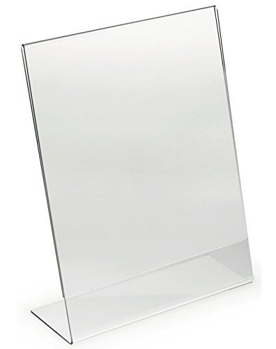 Dazzling Displays Acrylic 8.5 x 11 Slanted Sign Holders, 6 Pack (Acrylic Display Holders compare prices)
