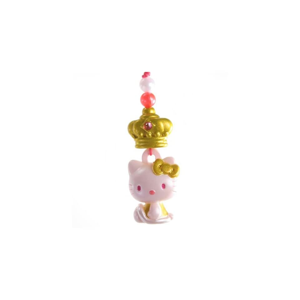 Hello Kitty Charm Mascot    Gold Crown  Japanese Import