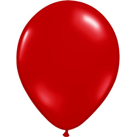 "9"" Ruby Red Balloons (10 ct) Latex (10 per package)"