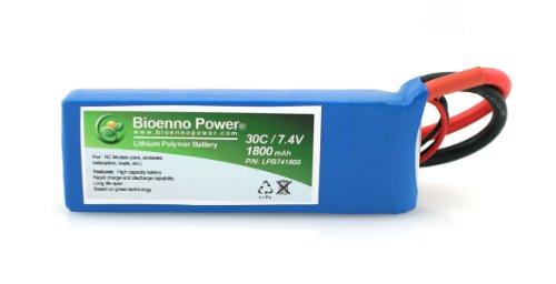 Bioenno Power Lightweight 30C, 7.4V, 1800 mAh LiPo Battery for RC Models