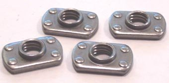 3/8-16 Tab Weld Nuts / Multi-Projection / Steel / Plain / 1,000 Pc. Carton