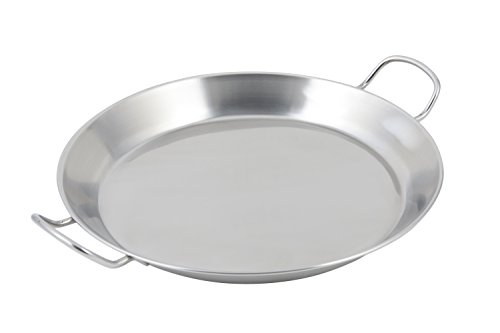 Bon Chef 61249 Stainless Steel Paella Induction Bottom Spanish Tray, 14-51/64