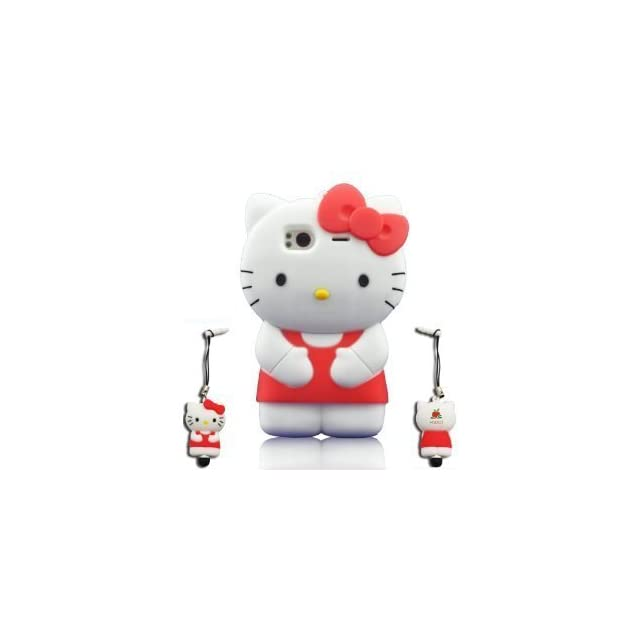 I Needs 3d Hello Kitty Hybrid Silicone Case Cover for HTC Sensation G14 Tmobile with 3D Hello Kitty Stylus Pen   Red red