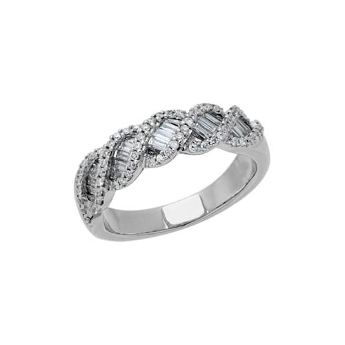 0.70 Carat 18kt White Gold Diamond Ring