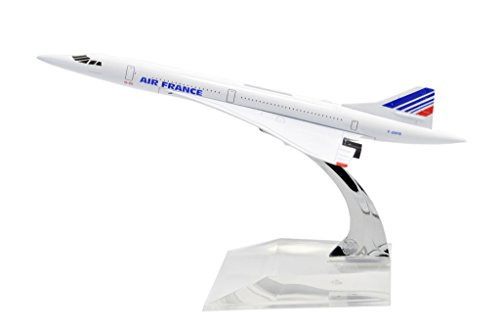 TANG DYNASTY(TM) 1:400 16cm Concorde Air France Metal Airplane Model Plane Toy Plane Model (Air France Model compare prices)