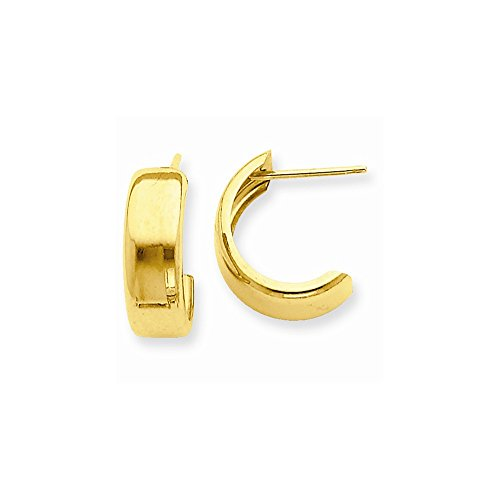 14k Yellow Gold Hoop Earrings, Jewelry Earring for Women