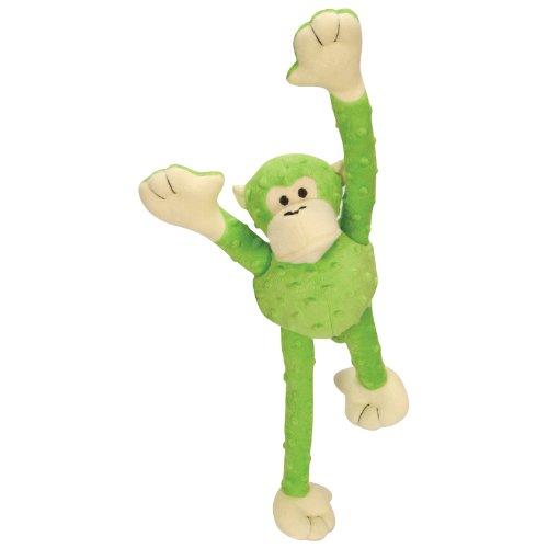 Godog Crazy Tugz 770731 Lime Monkey Large Tough Plush Dog Toy front-1060707