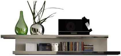 trendteam, Pannello da parete con mensola portaoggetti, Bianco (Weiß), 150 x 24 x 20 cm