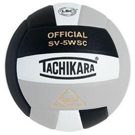 Tachikara Composite Volleyball - Sensi-Tec SV-5WSC, Colored Color: Black/white/silver