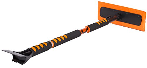 BirdRock Home 55″ Extendable Snow MOOver and Ice Scraper with Foam Grip