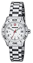 Wenger Grenadier Watch, White Dial Bracelet 721.202