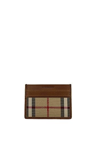 Porta Carte Burberry Uomo Tessuto Check Classico Burberry 3963268 Marrone 7.5x10 cmEU