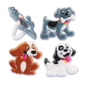 Puppy Dog Cupcake Rings - 24 pcs