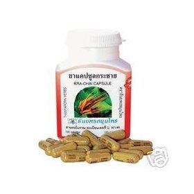 Krachai Boesenbergia Rotunda 100 Capsules Body Tonic, Thanyaporn Herbs Made From Thailand