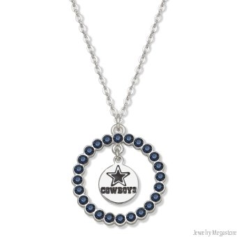 Fashion Dallas Cowboys Spirit Crystal Logo Wreath Necklace (NFL) at Amazon.com