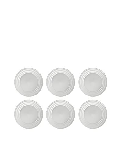10 Strawberry Street Set of 6 Swing Salad/Dessert Plates, White As You See