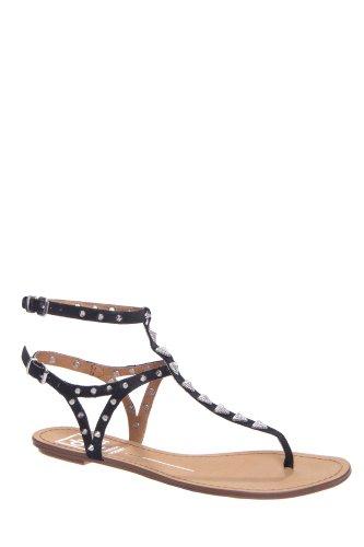 DV by Dolce Vita Vanessa Mooney Atara Gladiator Flat Ankle Strap Thong Sandal