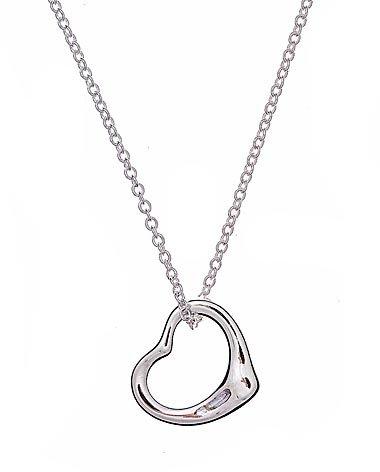 Sterling Silver Open Heart Pendant 16
