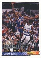 Gerald Wilkins New York Knicks 1993 Upper Deck Autographed Hand Signed Trading Card. by Hall of Fame Memorabilia