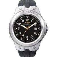 Unisex Timex T49635Mns Full Size Metal Tech Brn Strap w/Blk Dial