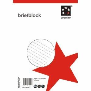 5 Star Briefblock A5/50 liniert 70g