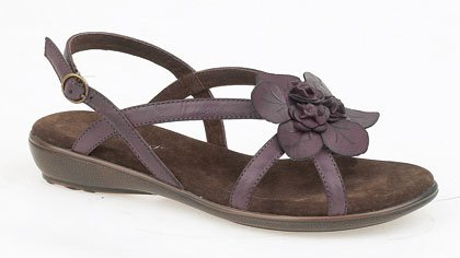 Ladies Strappy Buckle Sandal  leather lining