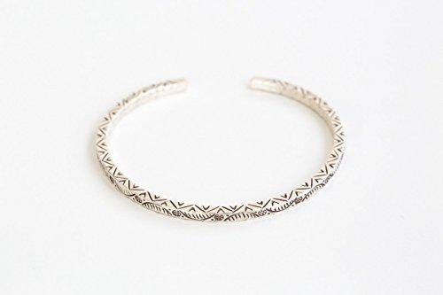 925 mini floral and leaf pattern engraved bracelet